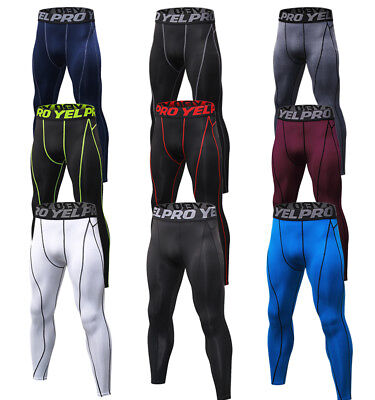 Mens Compression Pants Pro Wicking Base Layer Running Basketball Tights Spandex