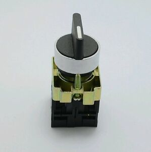 2Pcs  XB2BD25C 1NO 1NC 2 Positions Maintained Select Selector Switch