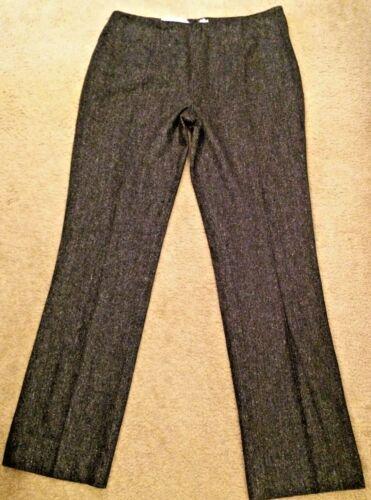 scuro lana da Us Sz 14 Milano Metradamo donna eleganti 50 grigio Tweed Pantaloni Italia di xXzw8R1q