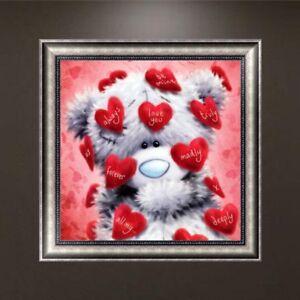 5d diy diamant broderie ours coeur rouge la - Ours Coeur