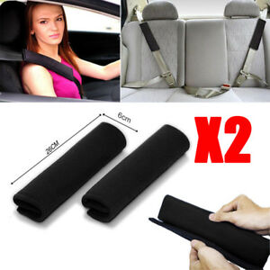 2-PCS-Black-Car-Safety-Seat-Belt-Shoulder-Pads-Cover-Cushion-Cotton-Harness-Pads