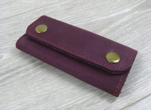 Leather Key Wallet Keys Pouch KeyChain KeyHolder Case Organizer Custom