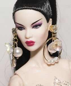 jewelry Poppy Parker,Barbie for doll Integrity Toys earrings Fashion Royalty