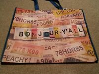 Marshalls Auto License Plates Us States Reusable Tote Bag Carry Purse 2 Bags