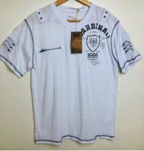 Mens-T-Shirt-Vintage-Graphic-Vertical-Sport-NYC-Cardinali-Ltd-Ed-1999-NWT-Size-L