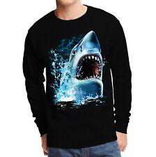 Animal Bite Men/'s SLEEVELESS T-shirt Oversized Shark Face