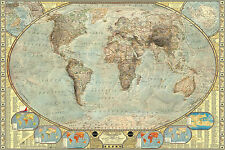 91 x 61cm political world map maxi poster terrain 61cm 91cm ebay highly detailed vintage world map large maxi poster art print 91x61 cm gumiabroncs Images