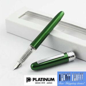 Platinum-Plaisir-Fountain-pen-Fine-Nib-Green-body-With-Box-PGB-1000-41-2-Japan