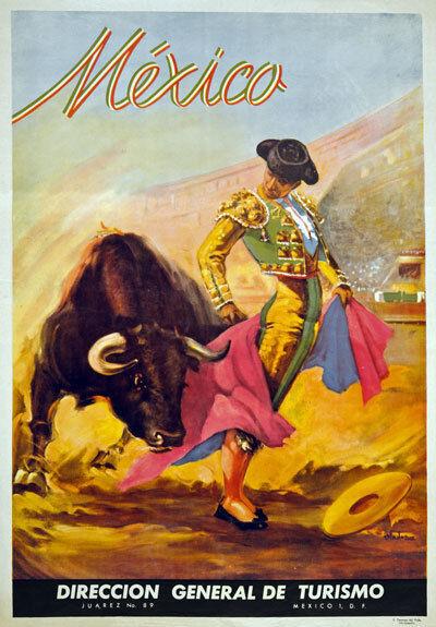 TX18 Vintage 1930's MEXICO Mexican Matador Bull Fighter Travel Poster A1/A2/A3