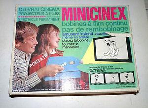 Projecteur-de-cinema-Minicinex-Meccano-1966-avec-2-films-Disney-et-un-de-Charlot