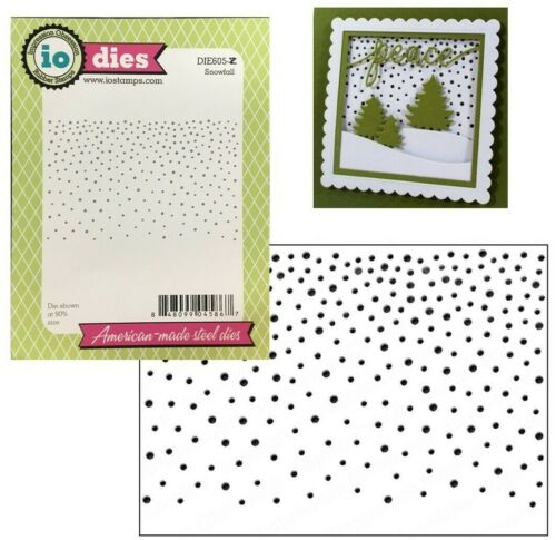 Snowfall Steel Craft Die Impression Obsession Cutting dies Winter Christmas Dots