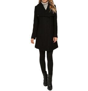 Jessica-Simpson-Women-039-s-Asymmetrical-Zipper-Envelope-Collar-Boucle-Coat-Size-XL