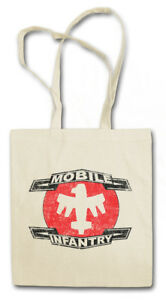 MOBILE INFANTRY LOGO STOFFTASCHE EINKAUFSTASCHE Starship Army Troopers Logo