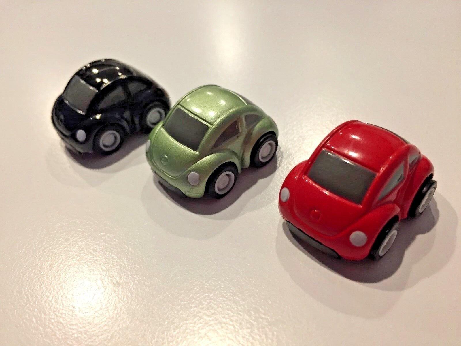 Original Volkswagen New Beetle promotional pull back cars