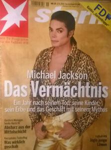 STERN Nr. 25 17.6.2010 MICHAEL JACKSON - DAS VERMÄCHTNIS - Frohburg, Deutschland - STERN Nr. 25 17.6.2010 MICHAEL JACKSON - DAS VERMÄCHTNIS - Frohburg, Deutschland