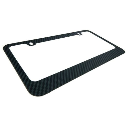 Personalized Custom Carbon Fiber Look Stainless Steel License Plate Frame