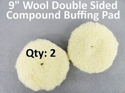 "8/"" Wool Double Sided Buffing Pad for Compound Cutting and Polishing"