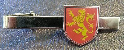 LION RAMPANT HERALDIC RED House of Lannister / Game of Thrones TIE BAR
