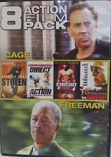 """""""8 ACTION FILM PACK"""" CAGE/FREEMAN/STALLONE/CUSACK (DVD/2013) BRAND NEW SEALED!"""