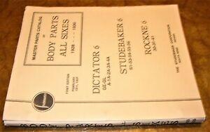 1929 1930 31 1932 1933-1936 Studebaker Parties Catalogue Dictateur Commander