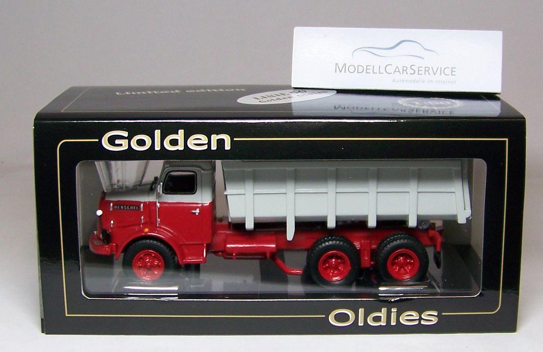 Oro Oldies 1/50 2510 Henschel Hs 22 Hak Dúmper, Gris/Rojo