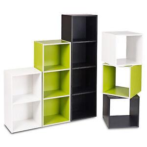 1, 2, 3, 4 Tier Wooden Bookcase Shelving Display Shelves Storage Unit Wood Shelf