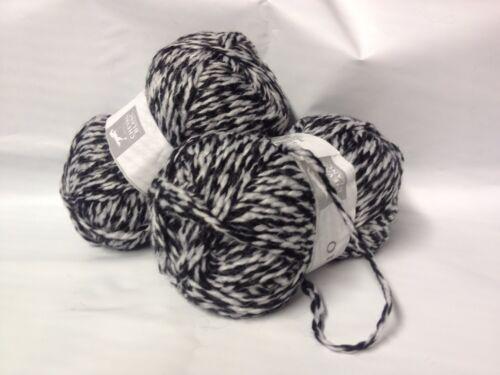 noir et blanc cheval blanc lot 5 pelotes de laine duo