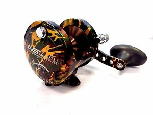 Details about Avet SX 5 3 Single Speed Lever Drag Casting Reel, Right Hand  - CAMO GREEN - New