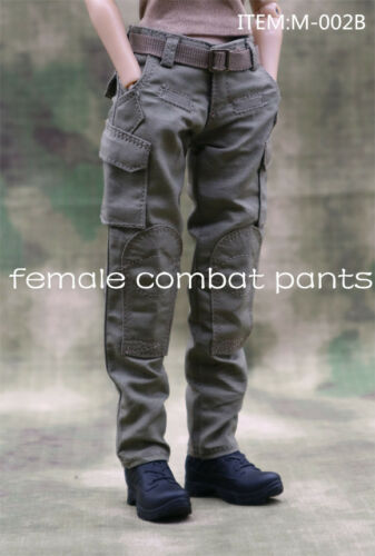 "Female Combat Army Working Trousers 1//6 Scale F 12/"" Women Action Figure Toys"
