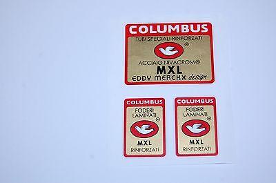 Columbus MXL Eddy Merckx Design Fahrrad Decal Transfer Sticker Set 12