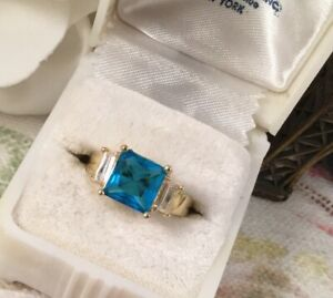 Vintage-Jewellery-Gold-Ring-London-Blue-Topaz-White-Sapphires-Deco-Jewelry-9-S