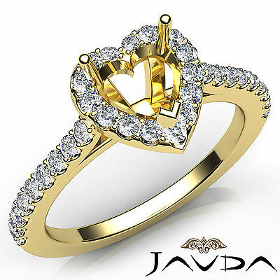 1.59 Ct Sim Diamond 14K Yellow Gold Semi Mount Setting Wedding Engagement Ring