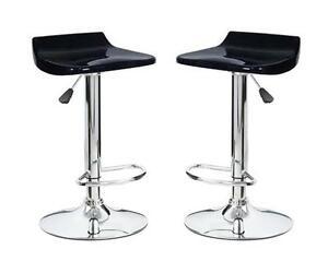Coppia 2 sgabelli abs bar sedie cucina ristorante sgabello nero