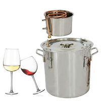 Diy Distiller Moonshine Still Stainless Steel Water Alcohol Oil Brewing Machine