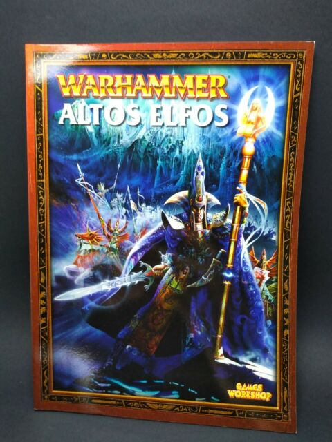 Warhammer Fantasy libro ejercito Altos Elfos 7ª edicion nuevo
