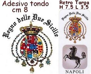 ADESIVO-RETRO-TARGA-AUTO-NAPOLI-PROVINCIA-SCRITTA-REGNO-2-SICILIE-AUTOCARRO