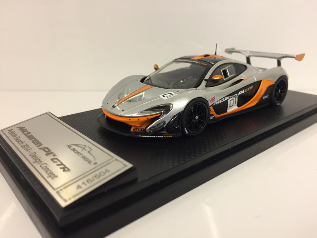 Almost real 440101 McLaren P1 GTR Kieselstein Strand 2014 Design Konzept 1:43