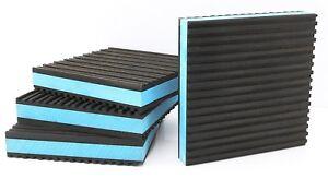 """4 Compressor Tank Anti Vibration Isolator Foot Pad 4"""" X 4"""" X 7/8"""" 60lbs Per Inch"""
