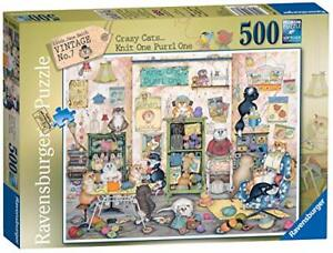 Ravensburger-Jigsaw-Puzzle-CRAZY-CATS-KNIT-ONE-PURRL-ONE-500-Piece
