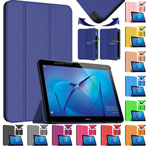 new product 754f9 a1e83 Details about New Leather Smart Flip Case Stand Cover For Tablet Huawei  MediaPad T3 10