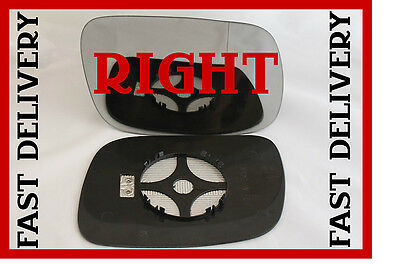 plate Right side for VW Touareg 2002-06 Wide Angle heated wing mirror glass