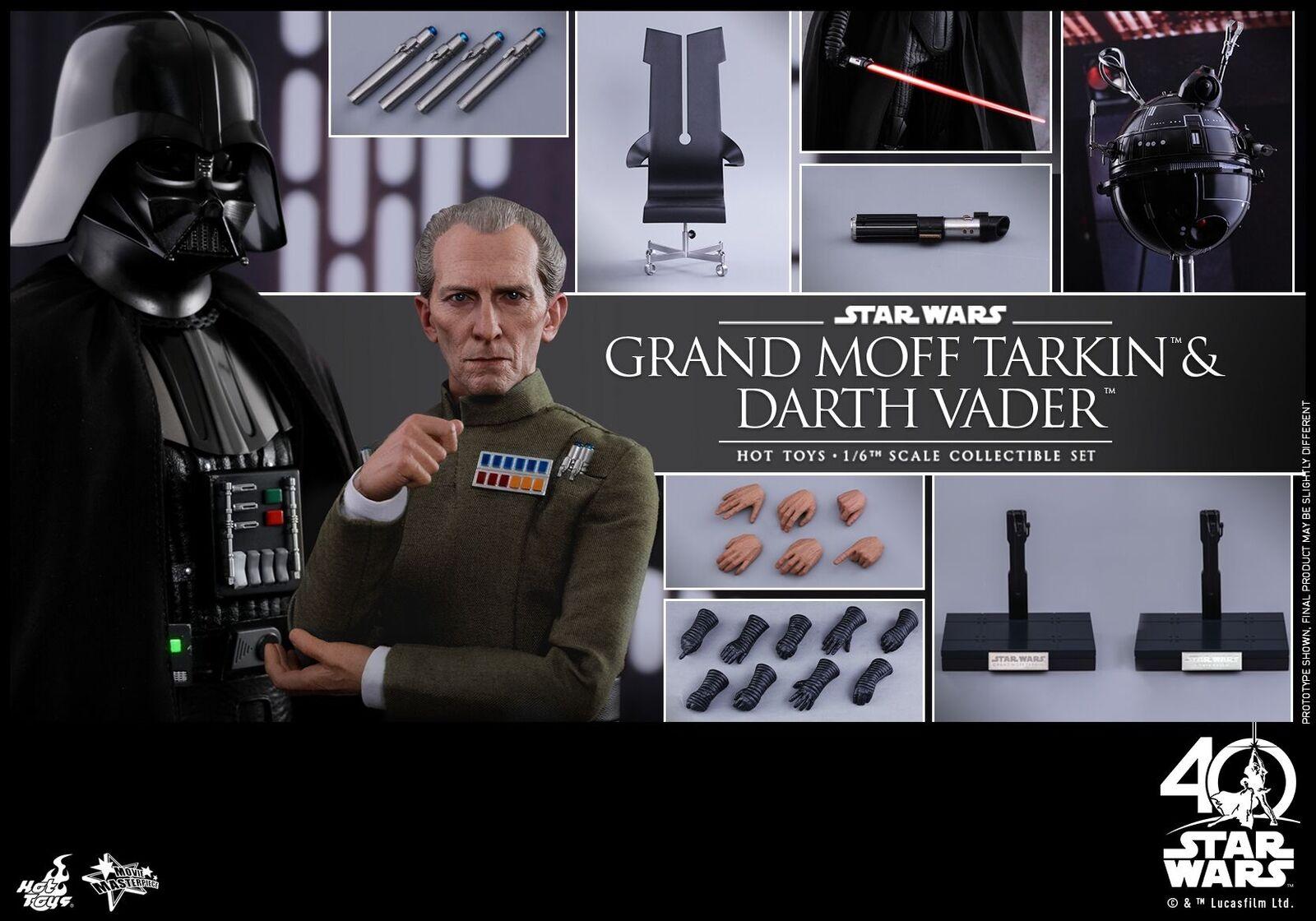 heta leksaker stjärnornas krig 1  6th Grand Moff Tarkin och Dkonsth Vader samlaible Set MMS434