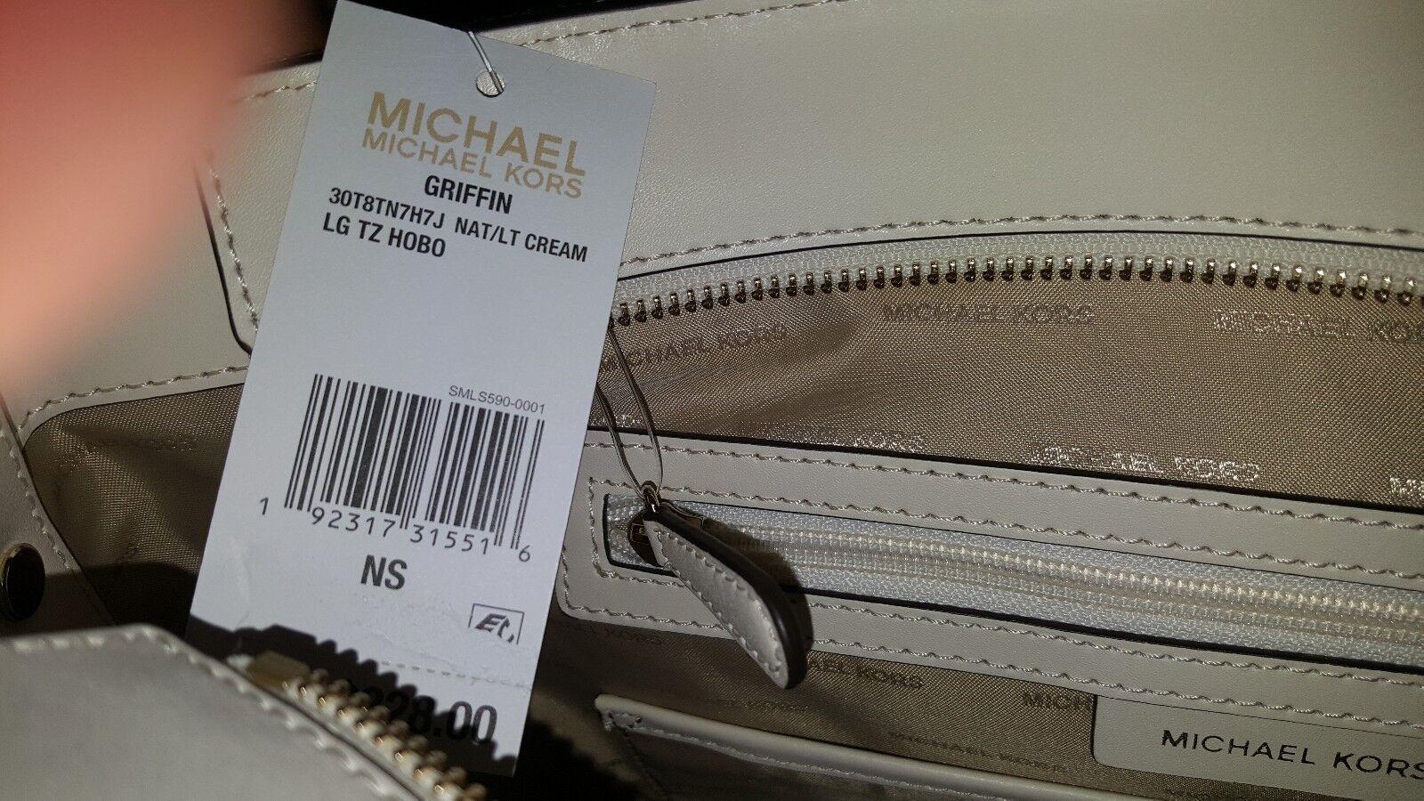 d741bc63362645 Michael Kors Griffin Large Logo Jacquard Shoulder Bag - Cream for sale  online   eBay