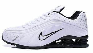 Details about Men's Nike Shox R4 Athletic Shoes White & Black Sizes 7-12
