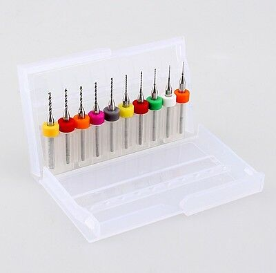 10Pcs PCB Print Circuit Board Carbide Micro Drill Bits Tool 0.3mm to 1.2 mm