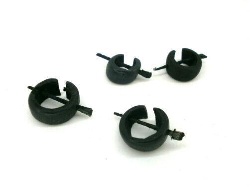 """2 pares /"""" Coco/""""  Pendientes// apiques para el cabello en coco color negro 12"""