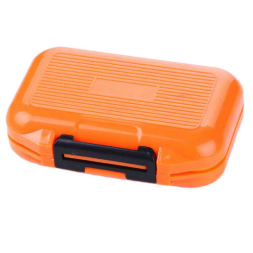 Portable Plastic Fishing Lure Box Case Waterproof Multiple Compartments