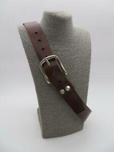 Damen Echt  Leder Gürtel dunkelbraun Größe 75 und 85 Nr. C 5