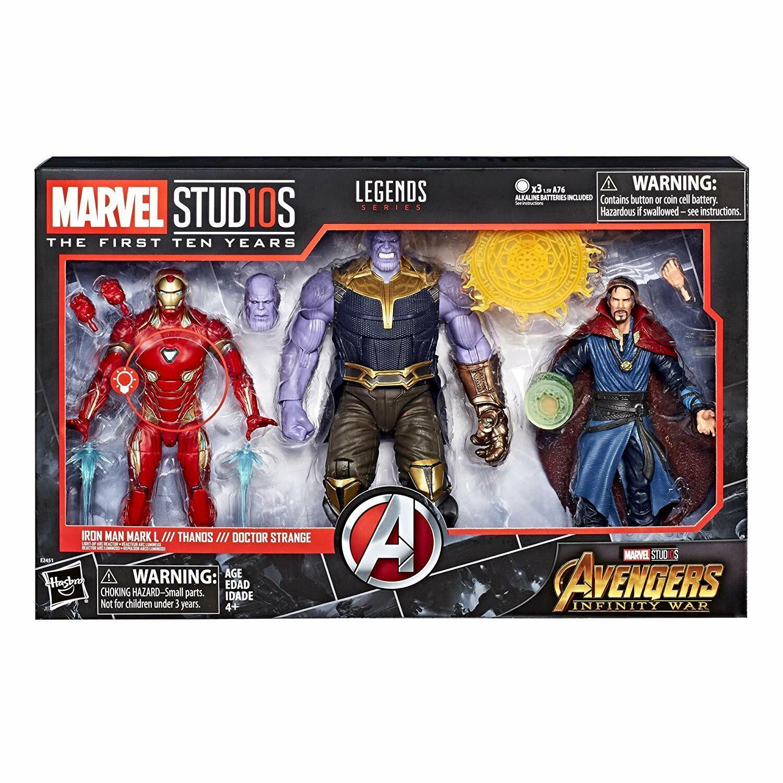 Marvel Studios The primero Dieci Anni Avengers Infinito Guerra cifra 3Pack