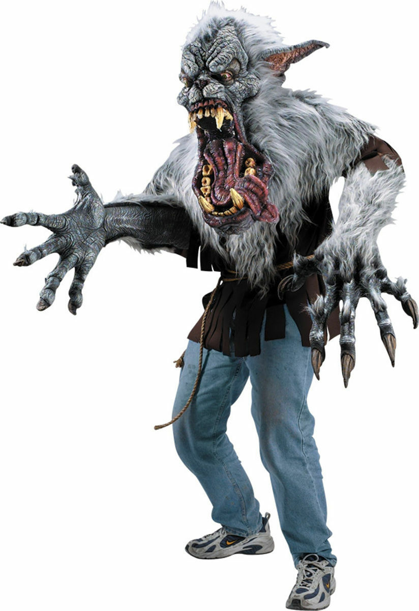 Oversized Werewolf Midnight Howler Creature Reacher Mask Scary ...